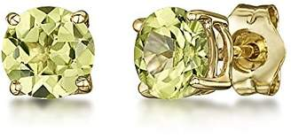 Theia 9ct Yellow Gold 'Peridot' Round Claw Set Stud Earrings