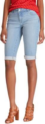 Chaps Petite Stretch Twill Denim Shorts