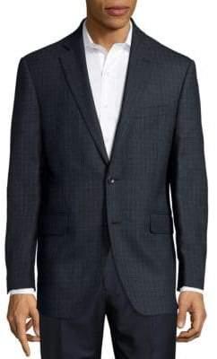 Saks Fifth Avenue Regular-Fit Tonal Windowpane Wool Sportcoat