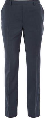 HUGO BOSS Blue Genesis Slim-Fit Virgin Wool And Cashmere-Blend Trousers