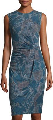 NIC+ZOE Broken Pottery Front-Twist Dress, Multi $119 thestylecure.com