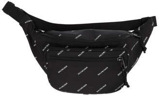 Balenciaga Black Logo Explorer Belt Bag