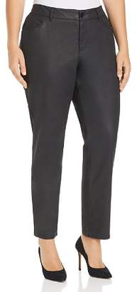 Lafayette 148 New York Plus Mercer Coated Jeans in Black
