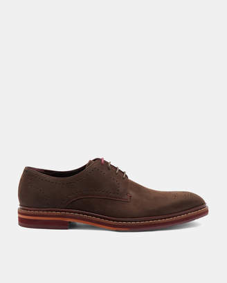 Ted Baker ZIGEEE Nubuck leather Derby shoes