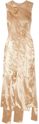 REJINA PYO Laura Cutout Satin Dress - Gold