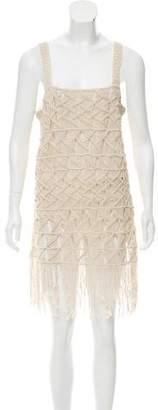 LoveShackFancy Sleeveless Fringe Dress