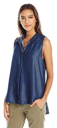 NYDJ Women's Sleeveless Drape Cowl Neck Tee with Fit Solution