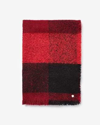 Express Buffalo Check Blanket Scarf