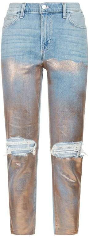 Slim Marcelle Foil Jeans
