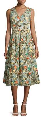Alice + Olivia Jenn Sleeveless Floral Embroidered Dress $1,898 thestylecure.com