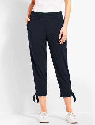 Talbots Woven Ankle-Tie Crop
