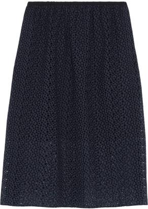 Tibi Broderie anglaise cotton midi skirt $525 thestylecure.com