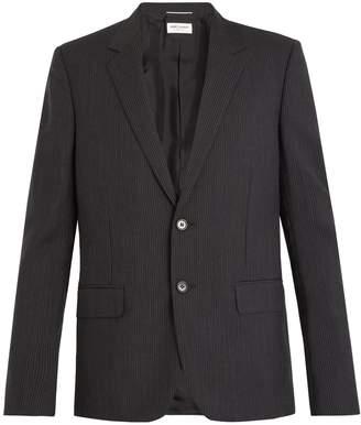Saint Laurent Single-breasted striped wool-blend blazer