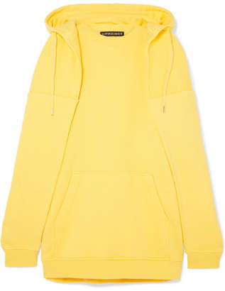 Y/Project Oversized Layered Cotton-jersey Hoodie - Bright yellow