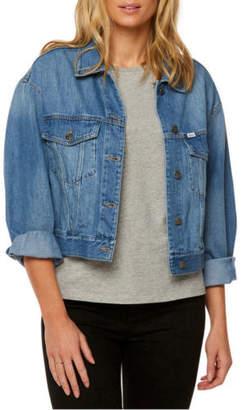 Lee NEW Cindy Cropped Jacket Trucker Stoney Blue Denim