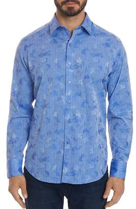Robert Graham Aoki Tonal Floral Classic Fit Button-Down Shirt