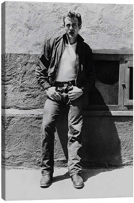iCanvas Icanvasart James Dean Posed In Jacket And Jeans By Movie Starnews