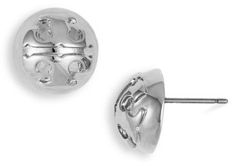 Tory Burch Small Domed Stud Earrings