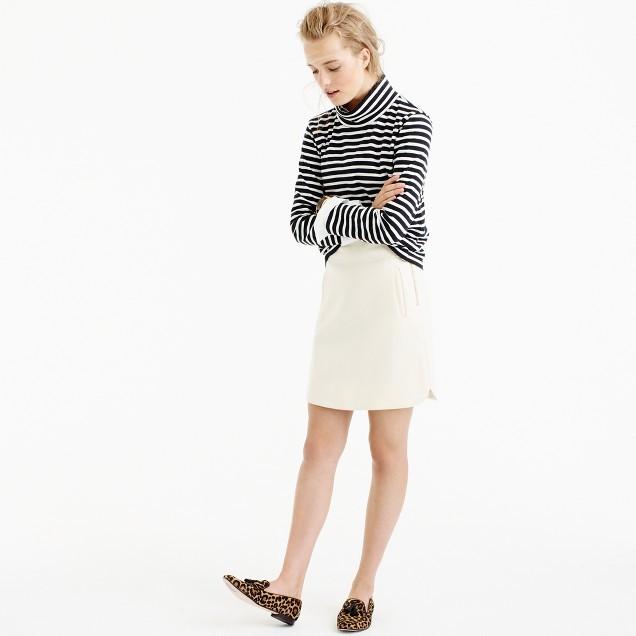 J.CrewTall mini skirt in double-serge wool