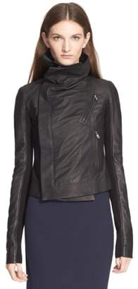 Rick Owens 'Classic' Leather Biker Jacket