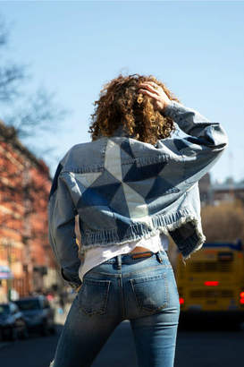 Tiffany & Co. Blue Revival Patchwork Star Denim Jacket