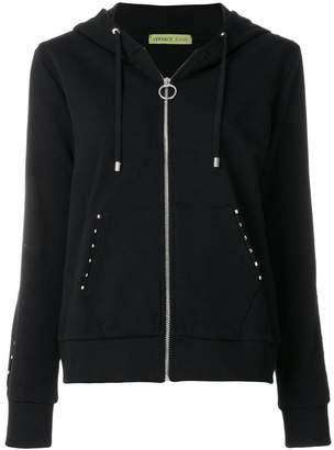 Versace studded hooded sweatshirt
