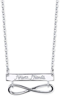 """Unwritten Forever Friends"""" Infinity 18"""" Pendant Necklace in Sterling Silver"""