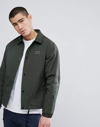 Jack Wills Chequers Coach Jacket In Olive