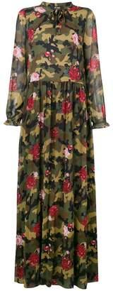 Twin-Set floral camo maxi dress