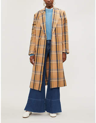 Stella McCartney Katherine double-breasted checked wool coat