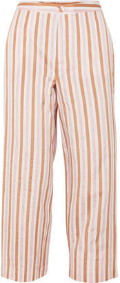 Frame Striped Jacquard Wide-leg Pants - Orange