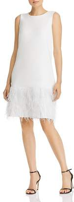 Sam Edelman Feather-Trimmed Shift Dress