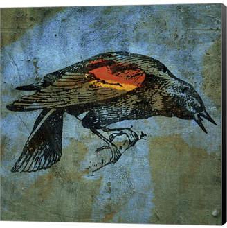 Red Wing Shoes Blackbird by John W. Golden Canvas Art