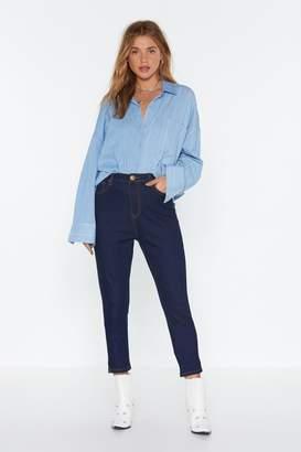 Nasty Gal Womens High Waist Skinny Jeans - Blue - 6, Blue
