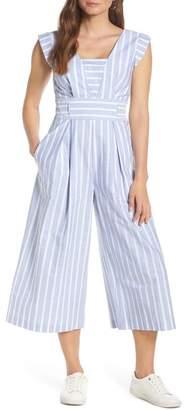 1901 Square Neck Cotton Jumpsuit (Regular & Petite)