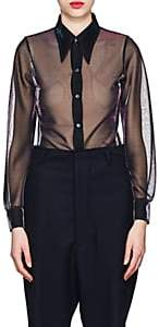 Maison Margiela Women's Sheer Metallic Blouse - Black