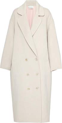 Mansur Gavriel Oversized Double-Breasted Wool Coat