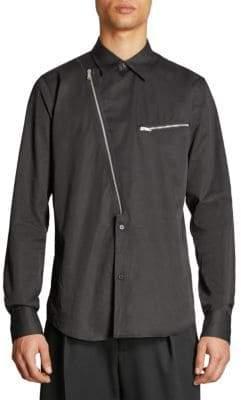 Givenchy Asymmetric Moto Shirt