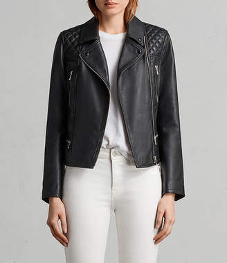 AllSaints Kelham Leather Biker Jacket