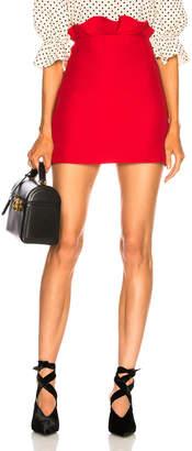 Valentino Ruffle Waist Mini Skirt