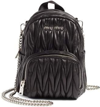 Miu Miu Micro Matelasse Leather Backpack