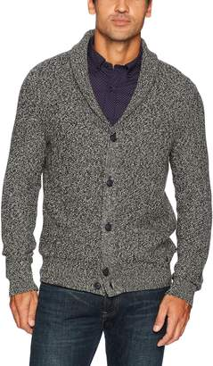 Nautica Men's Long Sleeve Pretwisted Shawl Collar Button Cardigan