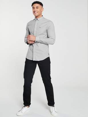 Armani Exchange Long Sleeved Shirt - White/Navy