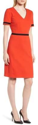 BOSS Higaniu A-Line Pique Dress