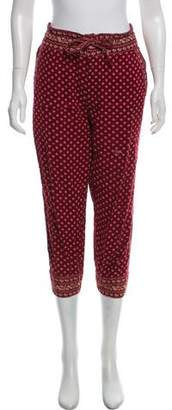 Etoile Isabel Marant Printed High-Rise Joggers