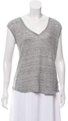 J Brand Sleeveless V-Neck T-Shirt