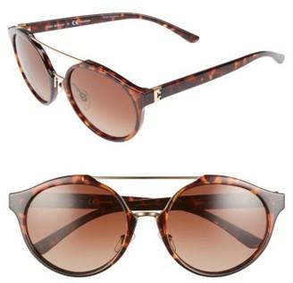 Women's Tory Burch 54Mm Polarized Sunglasses - Tortoise/ Polar