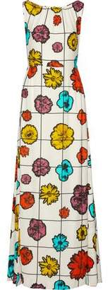 Moschino Floral-Print Crepe Gown