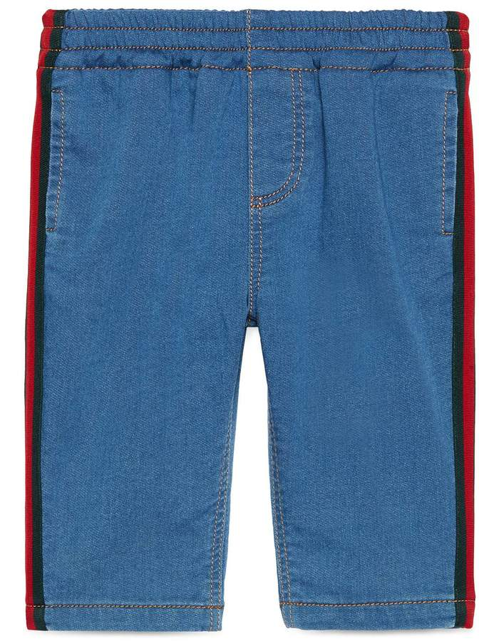 Baby jersey denim pant with Web