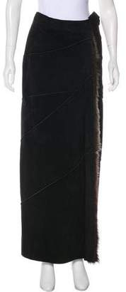 Fendi Leather Maxi Skirt